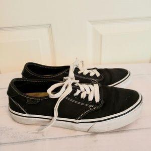 Van's Womens Navy Blue Tennis Shoes Size 7